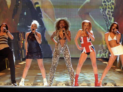 The Spice Girls at the Brit Awards during their 90s heyday (Fiona Hanson/PA)