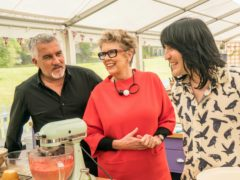 Paul Hollywood, Prue Leith and Noel Fielding on The Great British Bake Off (Channel 4/PA)