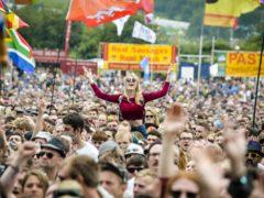 Crowds at Glastonbury Festival (Ben Birchall/PA)