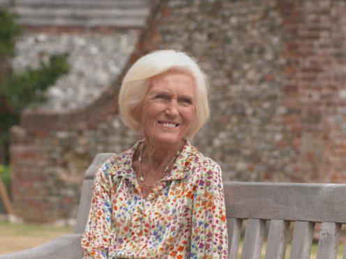 TV chef Mary Berry has recalled sleeping with pigs during her childhood on the family's smallholding (BBC/PA)