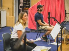 Hollie Chapman voicing Alice Carter and Wilf Scolding playing Christopher Carter in The Archers (BBC)