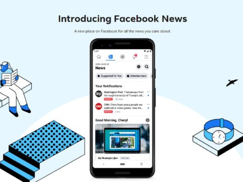 The News tool was launched as a trial in the US last year (Facebook)