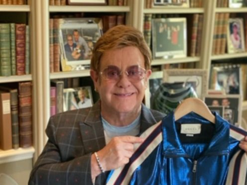 A Gucci tracksuit once belonging to Sir Elton John is going up for auction (Julien's Auctions/PA)