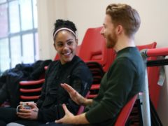 Alex Scott and Neil Jones during rehearsals for Strictly Come Dancing in 2019 (Yui Mok/PA)