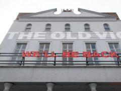 The Old Vic theatre in central London (Dominic Lipinski/PA)