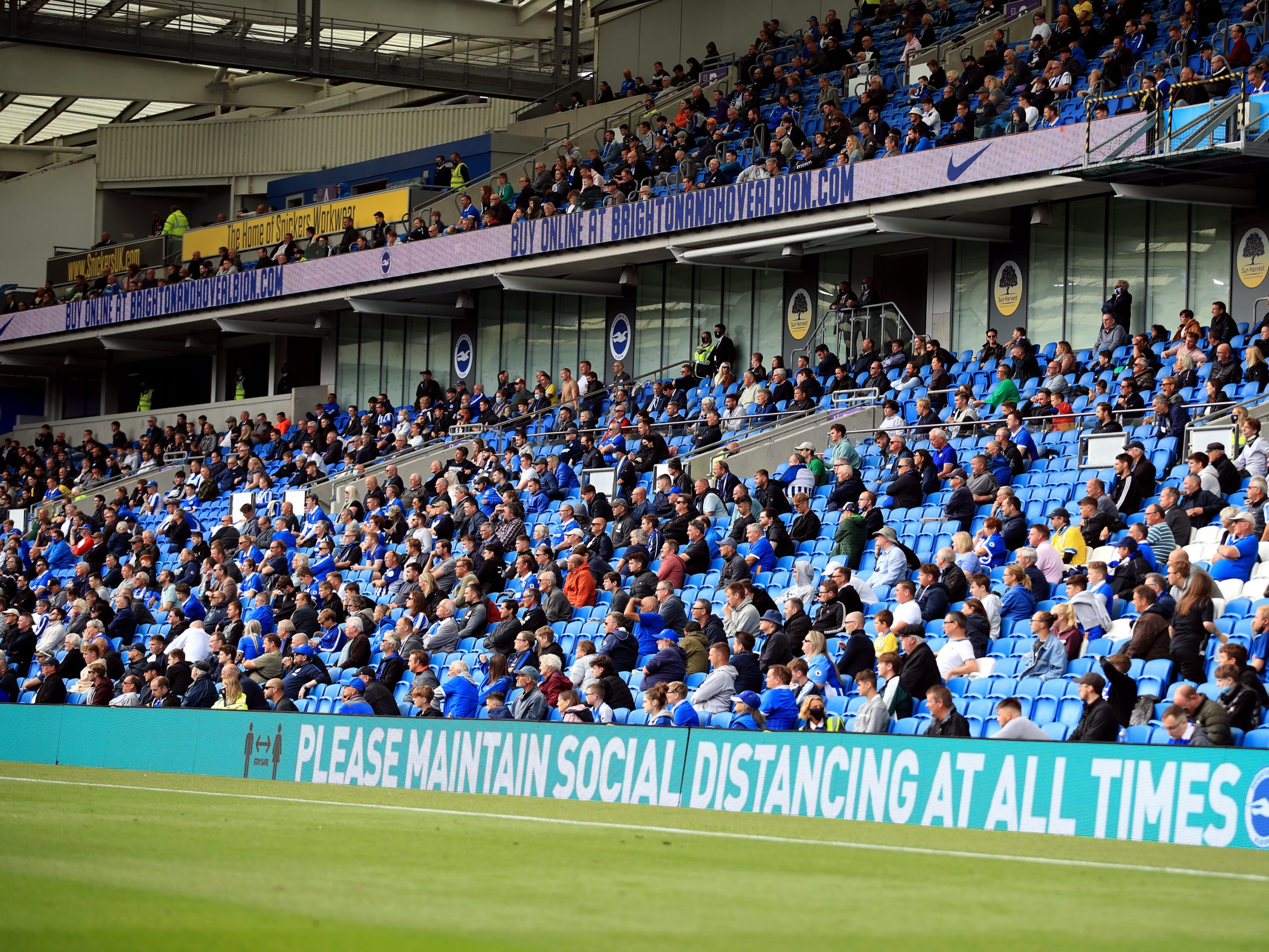 Plans to let fans back into English sporting venues 'paused' – Michael Gove