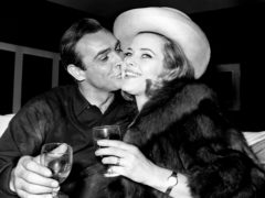 Honor Blackman meets Sean Connery (PA)