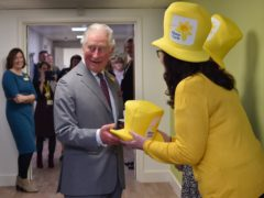 The Prince of Wales during a February visit to the Marie Curie Hospice in Cardiff and the Vale (Ben Birchall/PA)