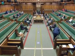 The chamber of the House of Commons during the coronavirus pandemic (House of Commons)