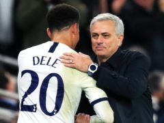 Jose Mourinho, right, says he takes no pleasure in leaving Dele Alli out of his line-up (Adam Davy/PA)