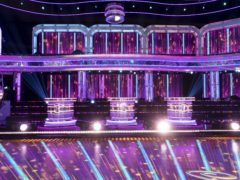 The socially distanced desks for the judges on the new series of Strictly Come Dancing (Guy Levy/PA)