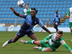 Wycombe forward Uche Ikpeazu, left, is fit again (Aaron Chown/PA)