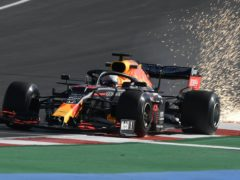 Max Verstappen, pictured, and Lance Stroll collided in practice (Jorge Guerrero/AP)