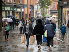 Shoppers in Nottingham ahead of the region being moved into Tier 3 coronavirus restrictions on Thursday (Joe Giddens/PA)