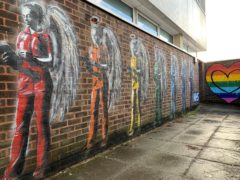 A mural by Worthing-based graffiti artist Horace at St Richard's Hospital in Chichester (@the.horace/Instagram)