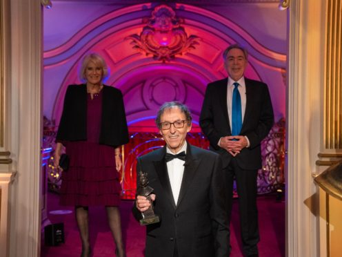 The Duchess of Cornwall, Don Black and Lord Lloyd-Webber (Aemelia Taylor/SOLT/PA)