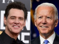 Actor Jim Carrey played Democratic presidential candidate Joe Biden as Saturday Night Live went political for the launch of its 46th season (Andrew Harnik/AP)