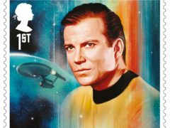 James T Kirk was played by William Shatner (Royal Mail)