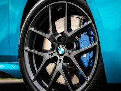 Blue calipers are part of the M Sport package of upgrades