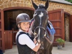 Geri Horner with her rescue horse (Geri Horner/Rainbow Woman)