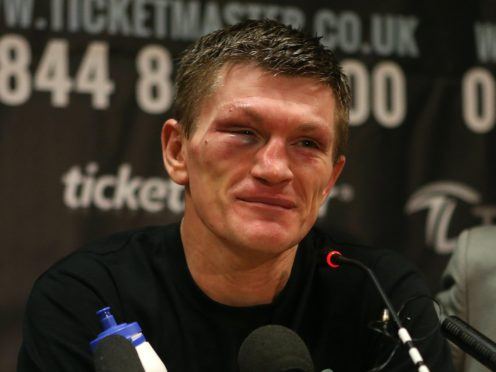 Ricky Hatton announced his retirement at the Manchester Arena (Dave Thompson/PA)