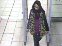 Shamima Begum, then 15 at Gatwick airport (Metropolitan Police/PA)