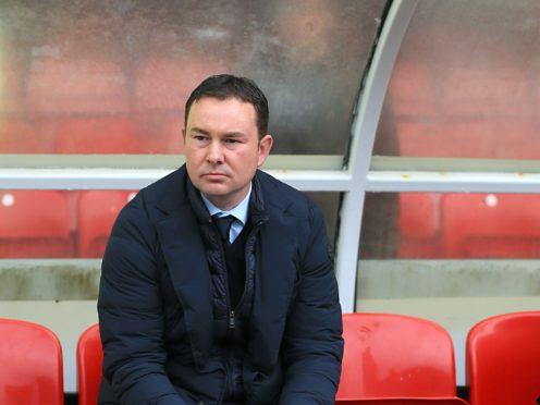 Morecambe boss Derek Adams welcomes non-league Solihull Moors to the Mazuma Stadium on Saturday. (Nigel French/PA)