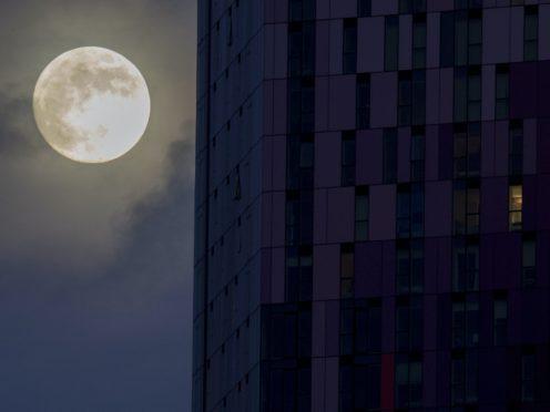 The moon rises (David Mirzoeff/PA)