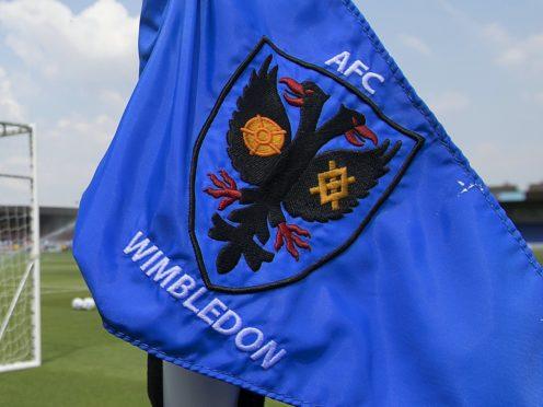AFC Wimbledon's clash with Wigan has been postponed (Mark Kerton/PA)