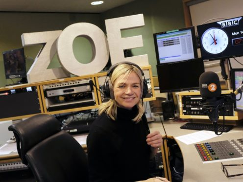BBC Radio 2 Breakfast Show presenter Zoe Ball (BBC/PA)