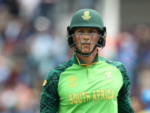 Rassie van der Dussen insists South Africa will be ready for England (Adam Davy/PA)