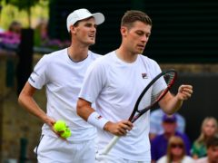 Jamie Murray (left) and Neal Skupski are outsiders to qualify for the ATP Finals after defeat in Paris (Victoria Jones/PA)