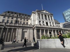 The Bank of England has unleashed another £150 billion of action to bolster the battered economy as it warned output will fall in the final three months of 2020 as a result of the second lockdown (Yui Mok/PA)