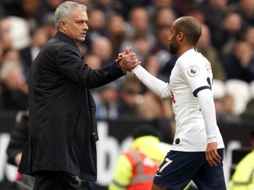 Lucas Moura believes Tottenham will win trophies under Jose Mourinho (John Walton/PA)