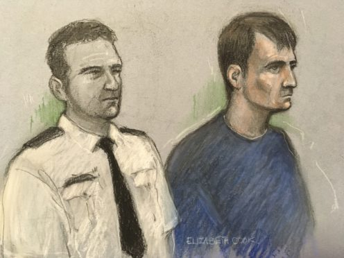 Court artist sketch of Christopher Kennedy at the Old Bailey in London (Elizabeth Cook/PA)