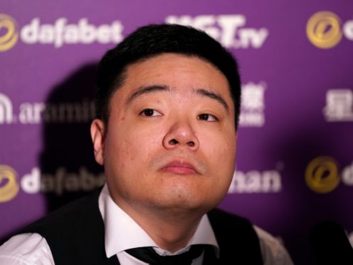 Ding Junhui complained about the table following his exit (Tess Derry/PA)