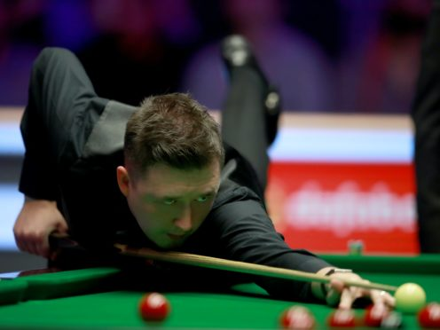 Kyren Wilson, pictured, hit a 147 as he edged Ashley Hugill 6-4 (Adam Davy/PA)
