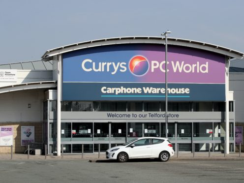 Currys PC World apologised to customers (PA)