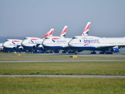 British Airways planes at Cardiff Airport (Ben Birchall/PA)