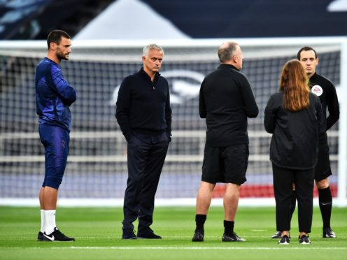Jose Mourinho is hopeful Hugo Lloris will be available to play for Tottenham in Sunday's game at Chelsea (Glyn Kirk/NMC Pool/PA)