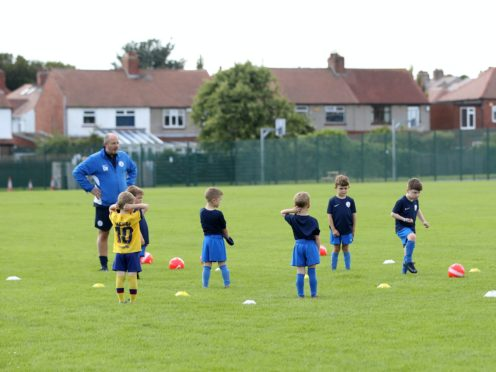 Children's football has again been stopped during England's second lockdown (Owen Humphreys/PA)