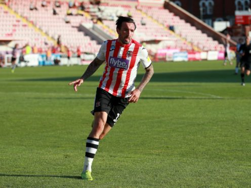 Ryan Bowman scored a hat-trick for Exeter (Adam Davy/PA)