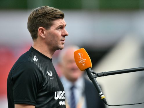 Rangers manager Steven Gerrard believes his side still have some way to go before they can topple Europe's top sides (Sascha Schuermann/PA)