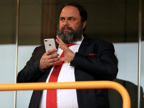 Evangelos Marinakis' positive coronavirus test sparked calls from Premier League bosses for an urgent public health meeting, PA has discovered (Mike Egerton/PA)