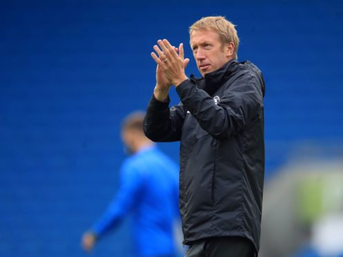 Graham Potter's Brighton hope to end their winless run against Burnley (Adam Davy/PA)