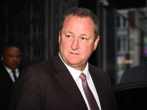 Frasers Group chief Mike Ashley (Kirsty O'Connor/PA)