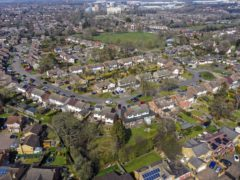 A view of Leverstock Green, Hemel Hempstead. The average price tag on a property is around £1,500 lower this month than a record high reached in October, according to Rightmove (Steve Parsons/PA)