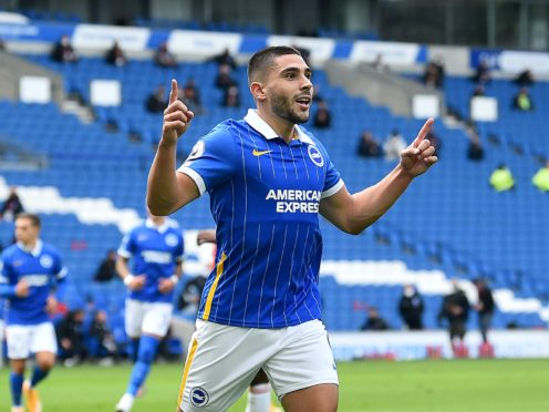 Brighton striker Neal Maupay was left out for last week's clash against Tottenham (Glyn Kirk/PA)
