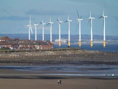 Offshore wind power remains popular with the public (Owen Humphreys/PA)