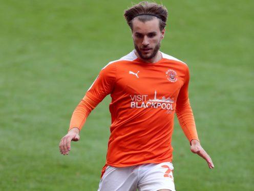 Luke Garbutt was on the scoresheet as Blackpool beat Harrogate (Richard Sellers/PA)